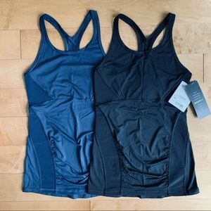 2 NWT Athleta Stealth Racerback Tank Tops XS